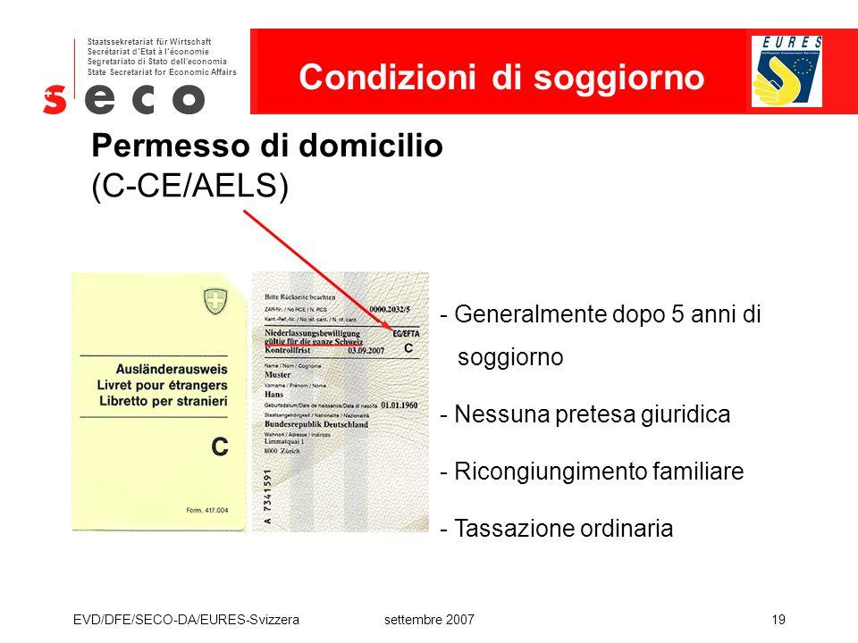 Permesso di domicilio (C-CE/AELS)