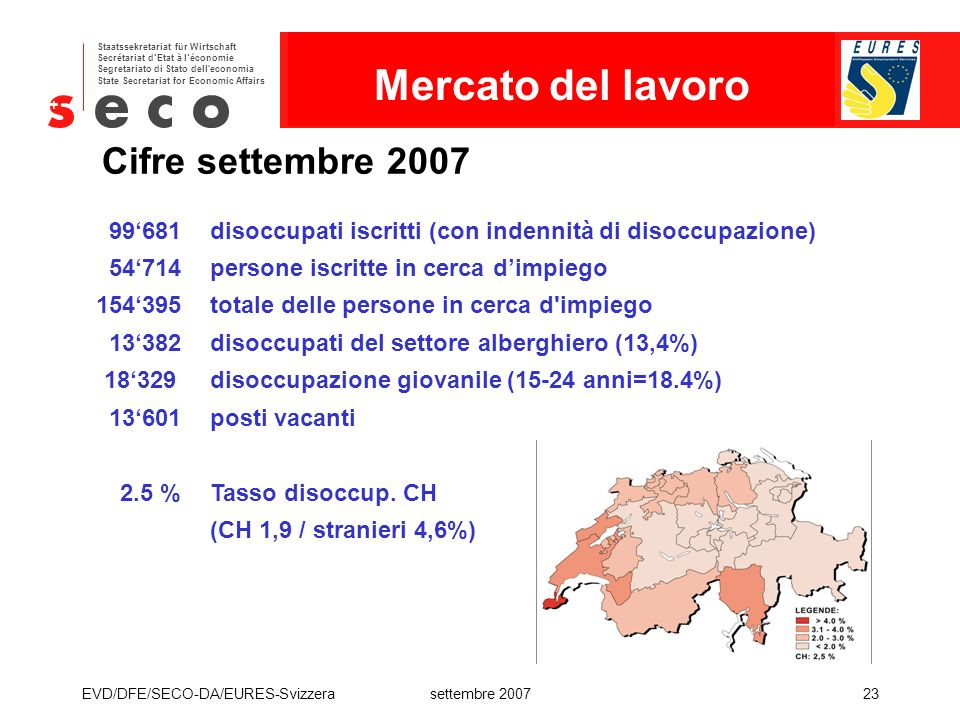 Mercato del lavoro Cifre settembre 2007