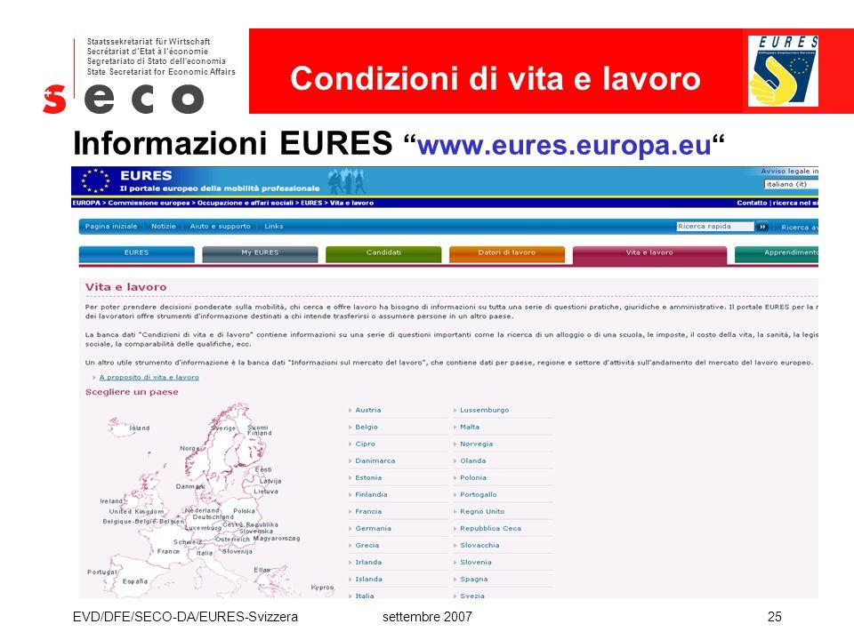 Informazioni EURES www.eures.europa.eu