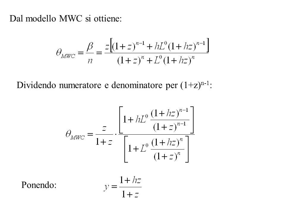 Dal modello MWC si ottiene: