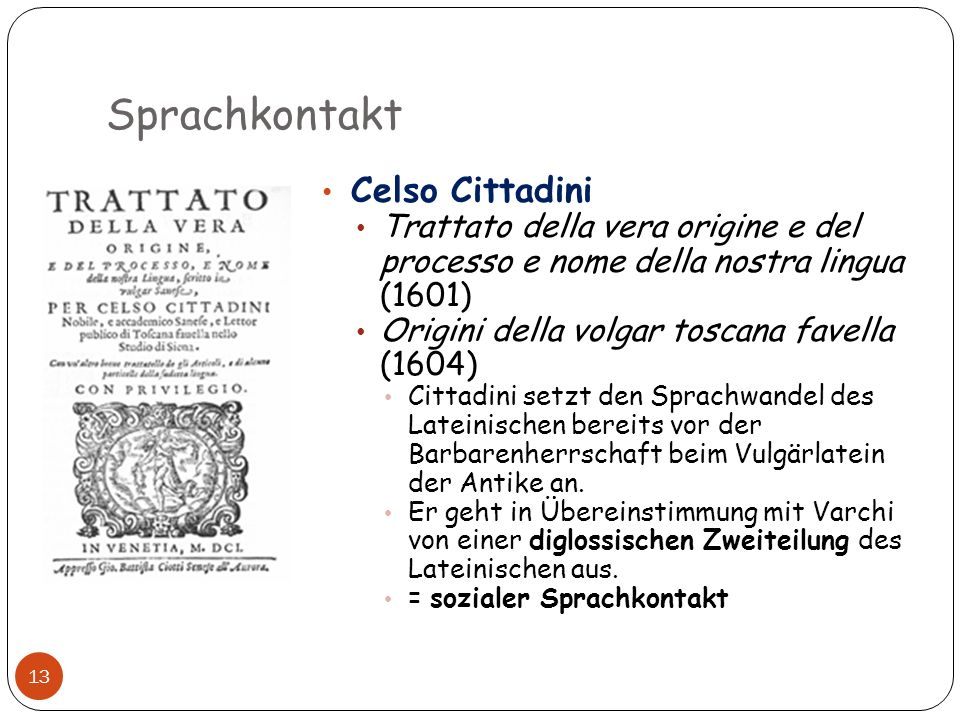 Sprachkontakt Celso Cittadini