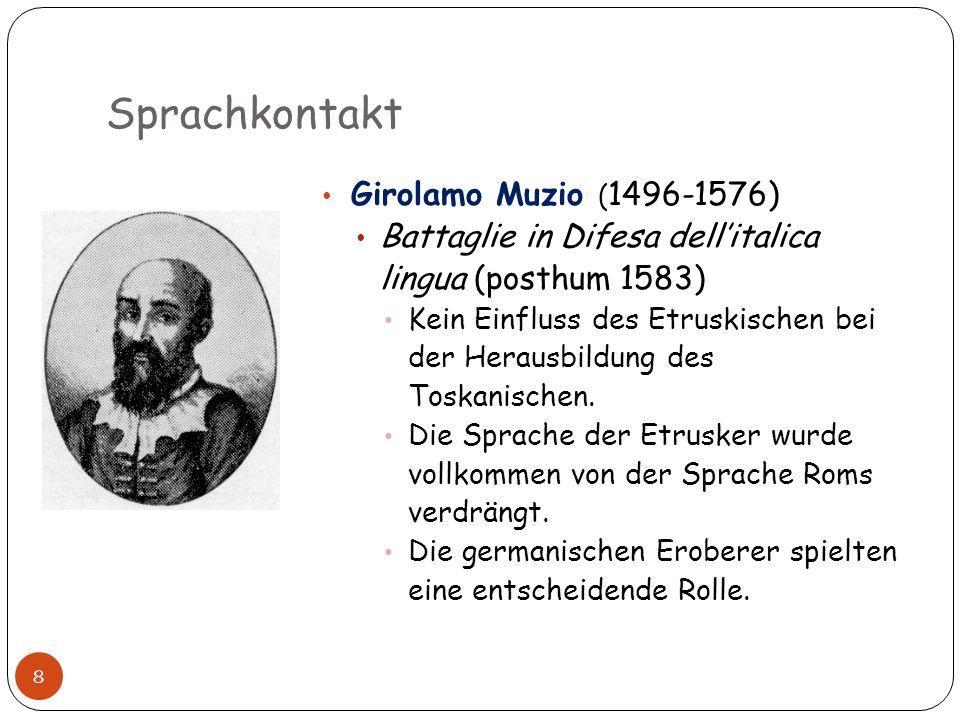 Sprachkontakt Girolamo Muzio (1496-1576)