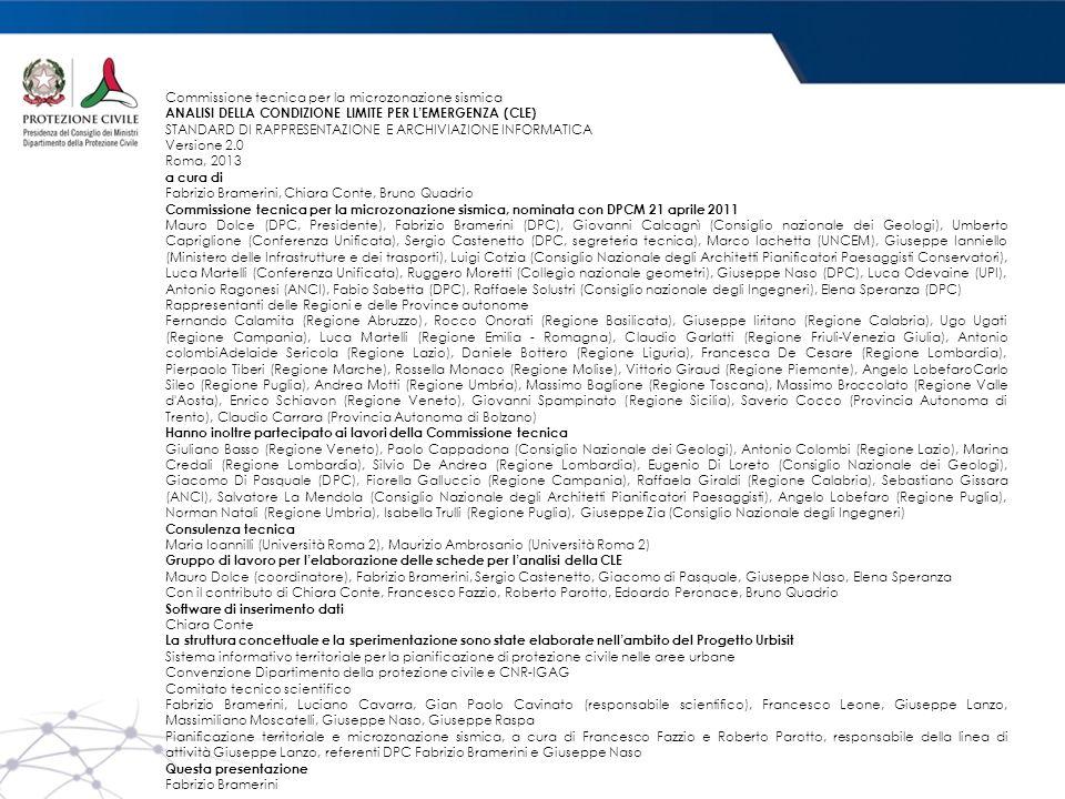 Commissione tecnica per la microzonazione sismica