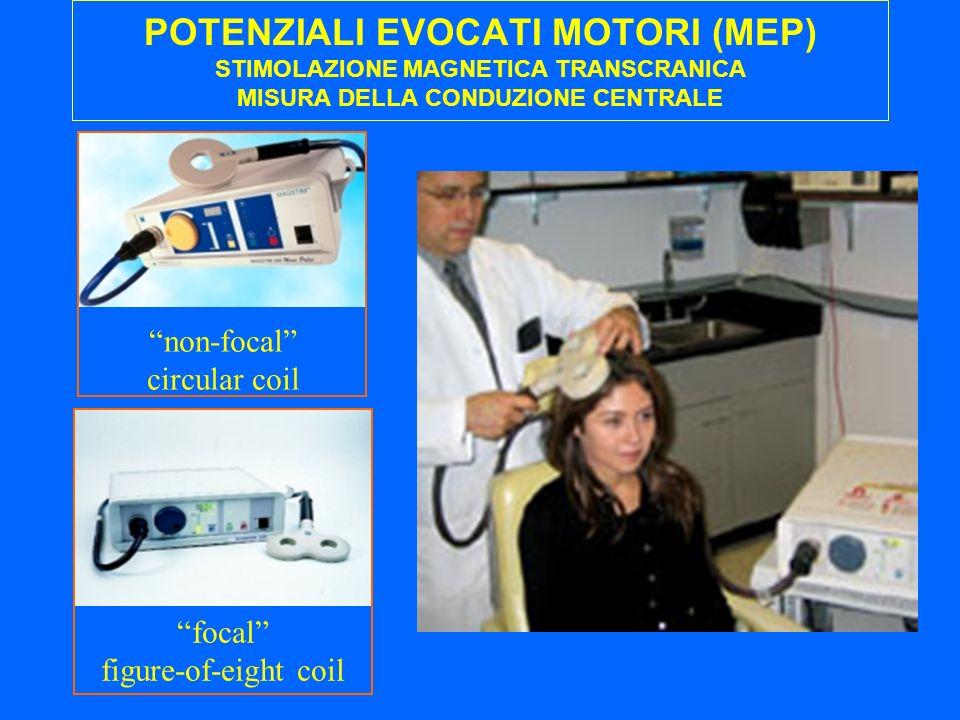 POTENZIALI EVOCATI MOTORI (MEP) STIMOLAZIONE MAGNETICA TRANSCRANICA MISURA DELLA CONDUZIONE CENTRALE