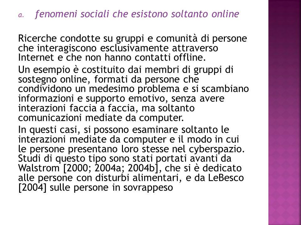 fenomeni sociali che esistono soltanto online