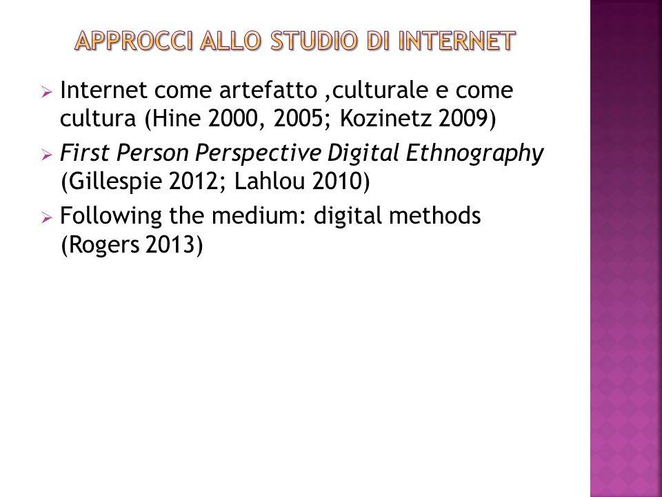 Approcci allo studio di internet