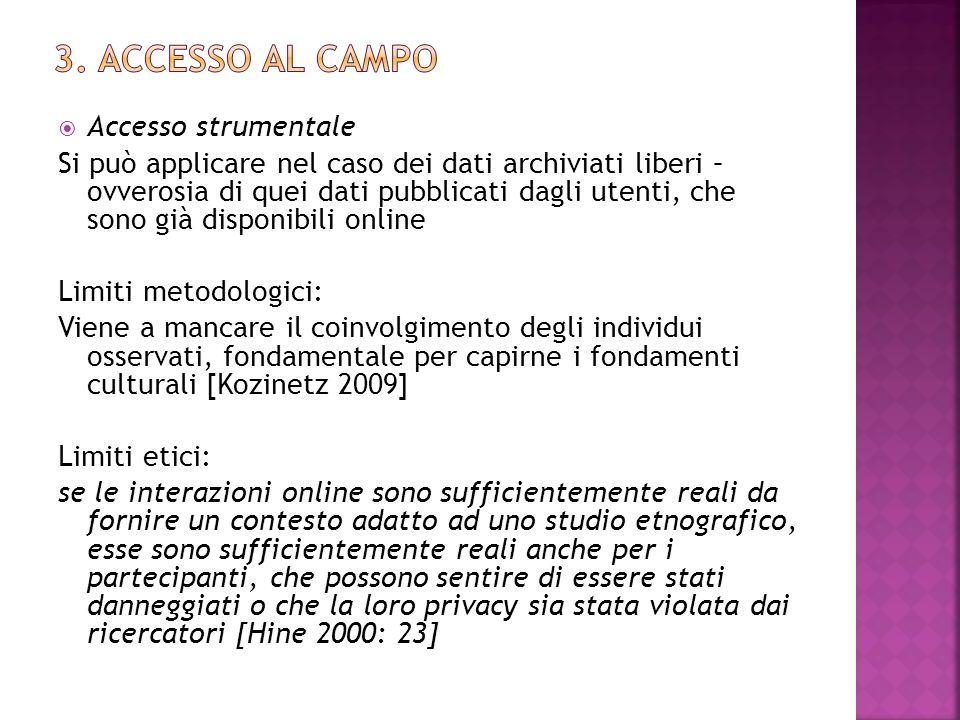 3. ACcesso Al Campo Accesso strumentale