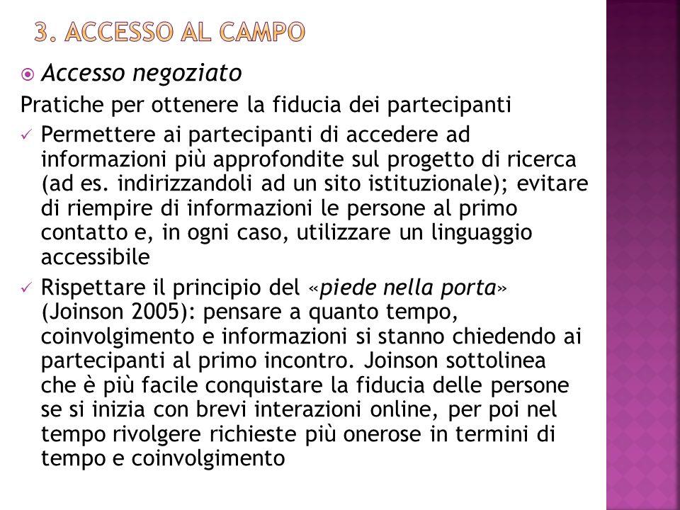 3. ACcesso Al Campo Accesso negoziato