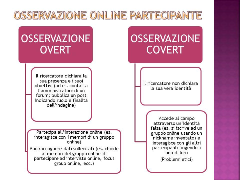 Osservazione online PARTECIPANTE