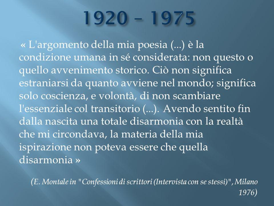 1920 – 1975