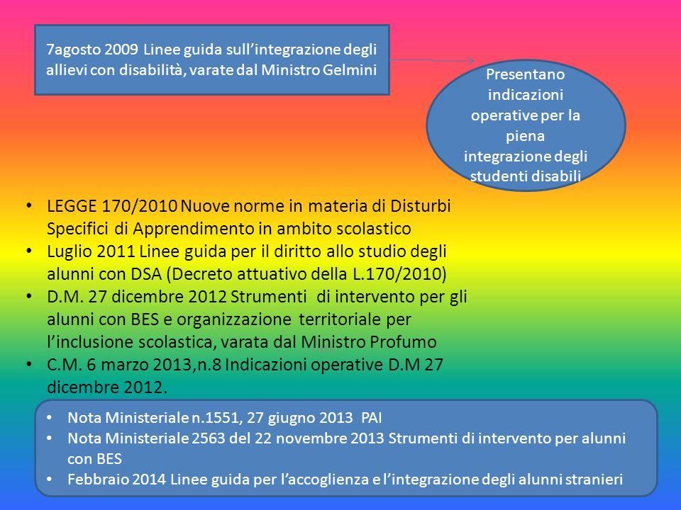 C.M. 6 marzo 2013,n.8 Indicazioni operative D.M 27 dicembre 2012.