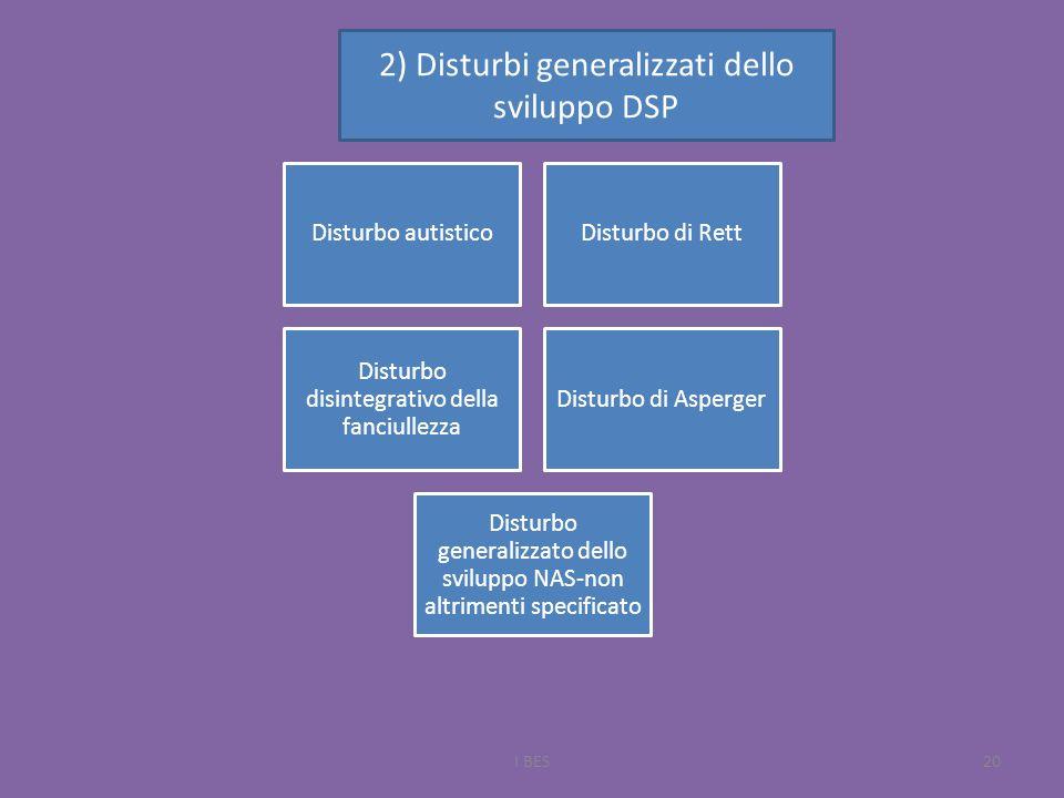 2) Disturbi generalizzati dello sviluppo DSP
