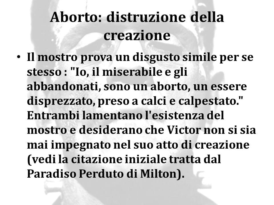 Aborto: distruzione della creazione
