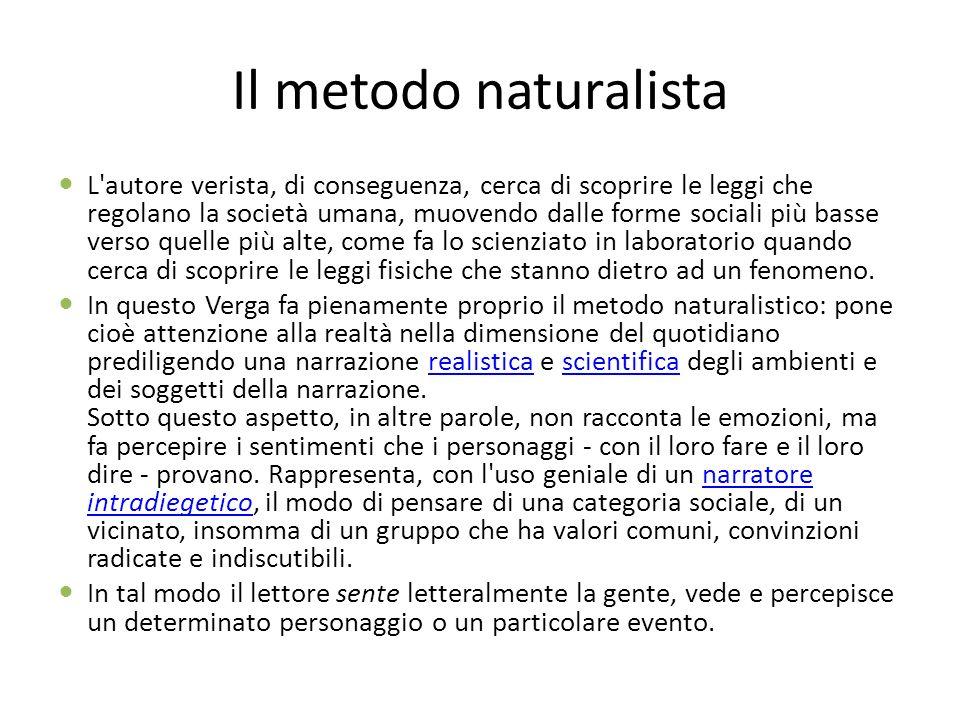 Il metodo naturalista
