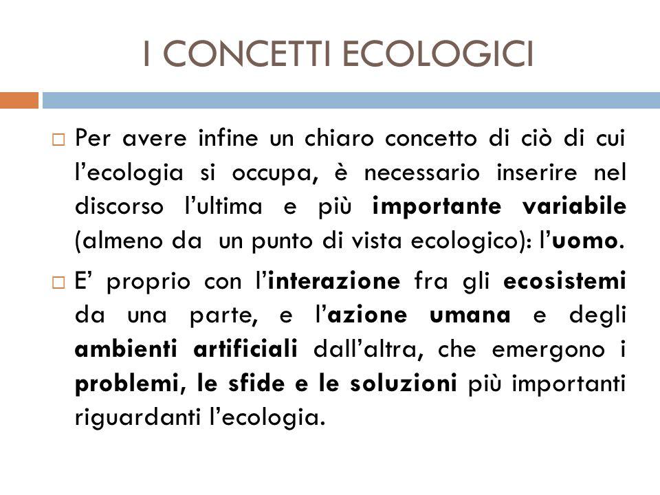 I CONCETTI ECOLOGICI