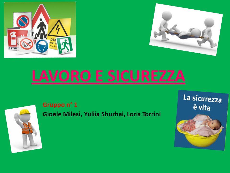 Gruppo n° 1 Gioele Milesi, Yuliia Shurhai, Loris Torrini