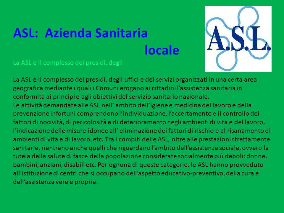 ASL: Azienda Sanitaria locale