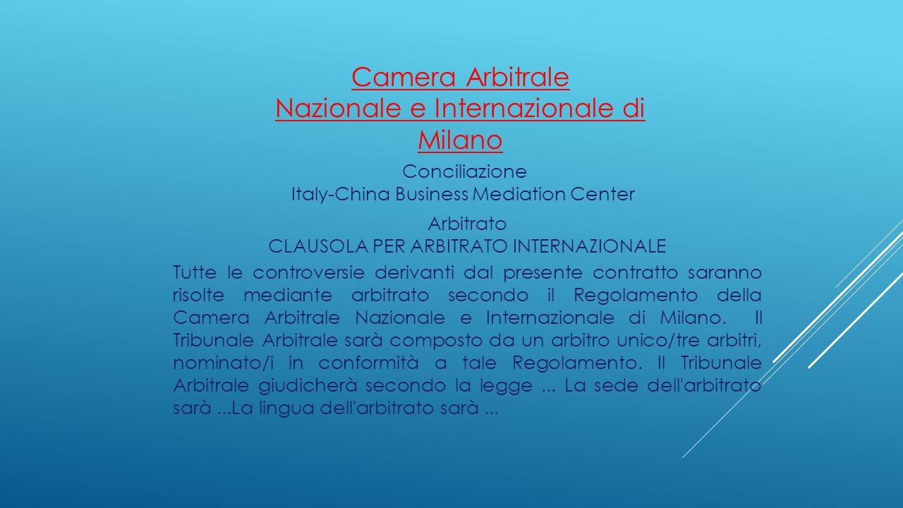Camera Arbitrale Nazionale e Internazionale di Milano