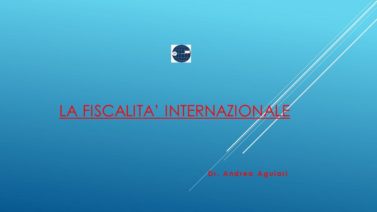LA FISCALITA' INTERNAZIONALE