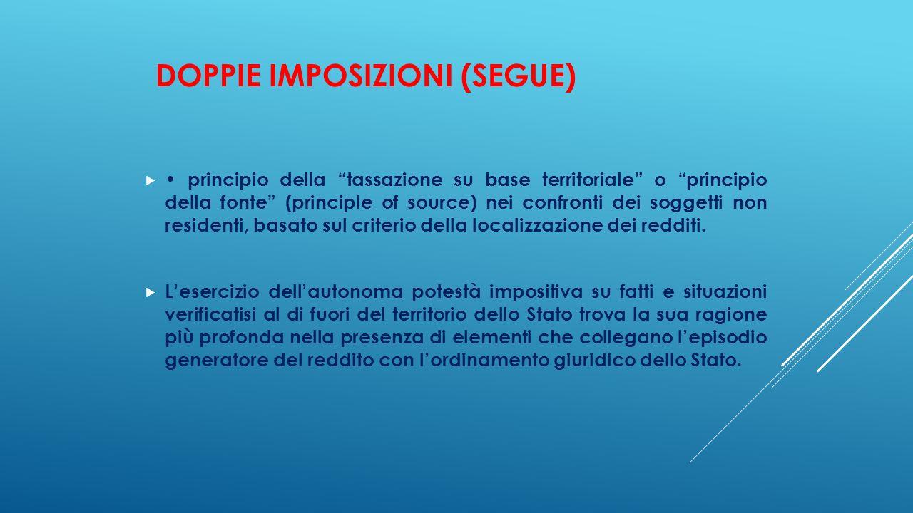 DOPPIE IMPOSIZIONI (segue)