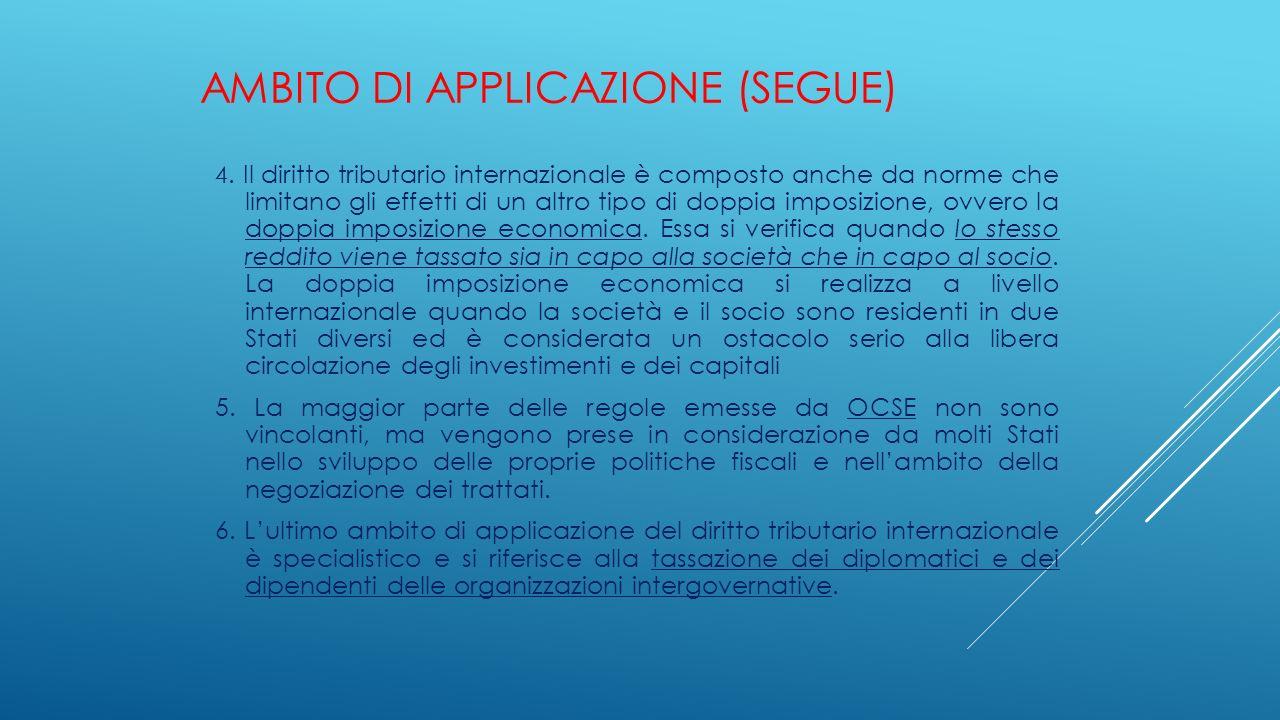 Ambito di applicazione (segue)