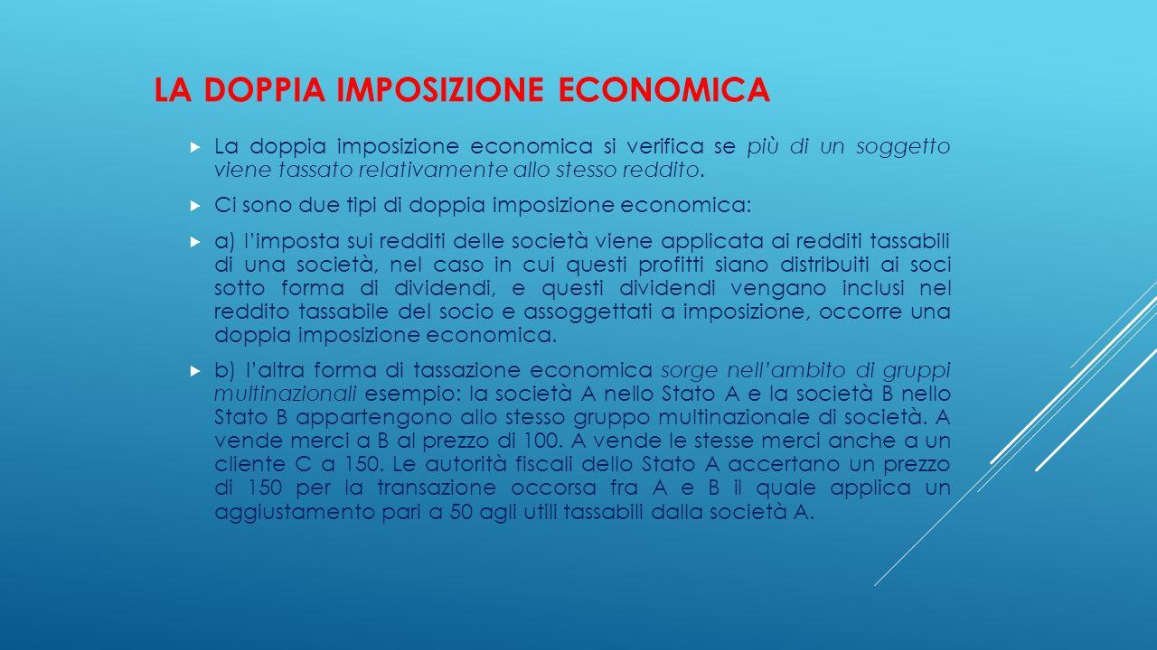 LA DOPPIA IMPOSIZIONE ECONOMICA