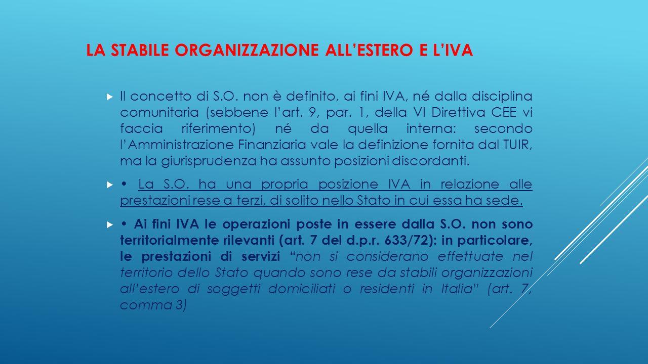 La stabile organizzazione all'estero e l'IVA