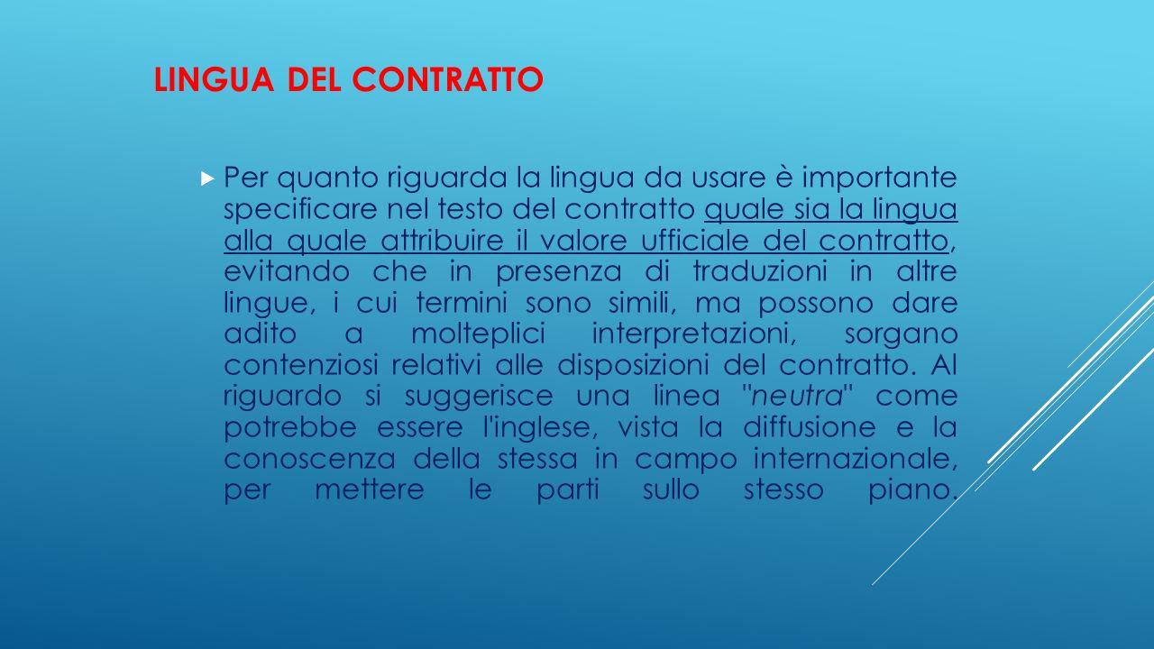 Lingua del contratto