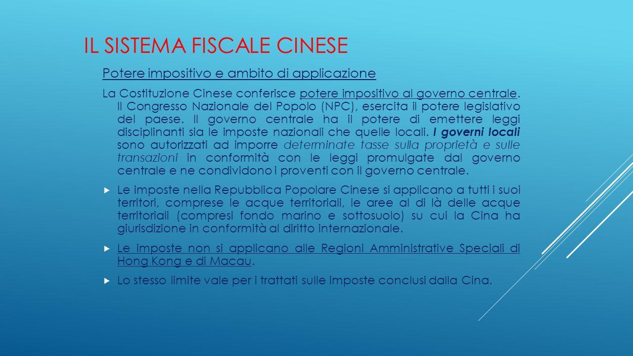 Il sistema fiscale cinese