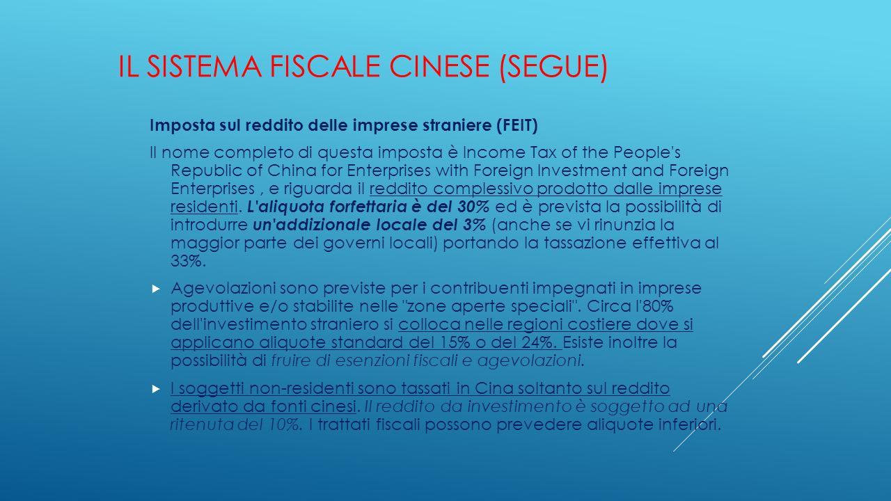 Il sistema fiscale cinese (segue)