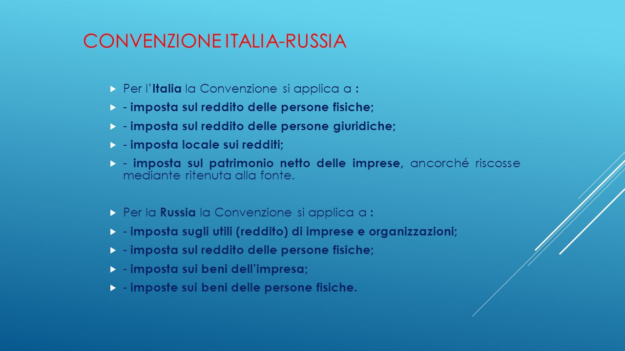 Convenzione Italia-Russia