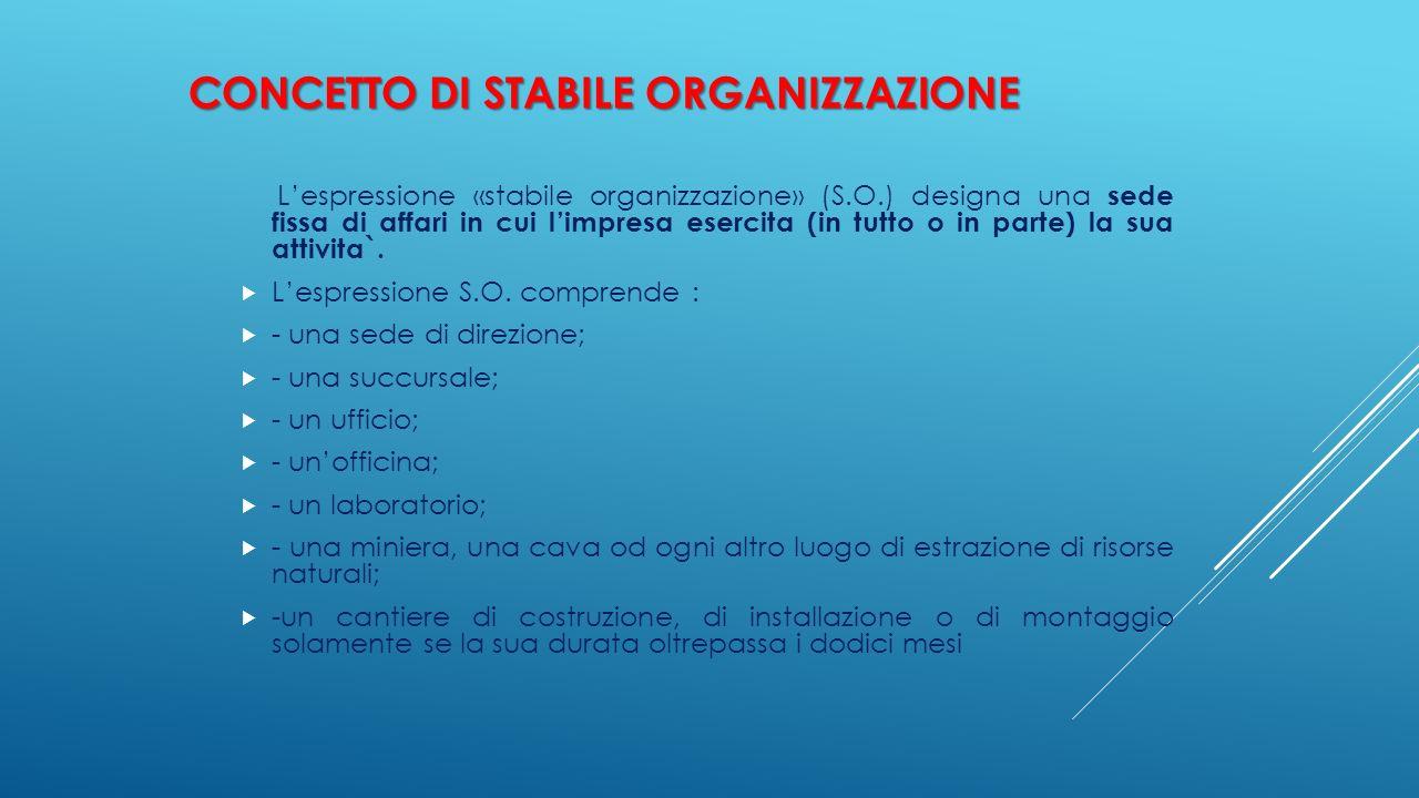 Concetto di Stabile organizzazione