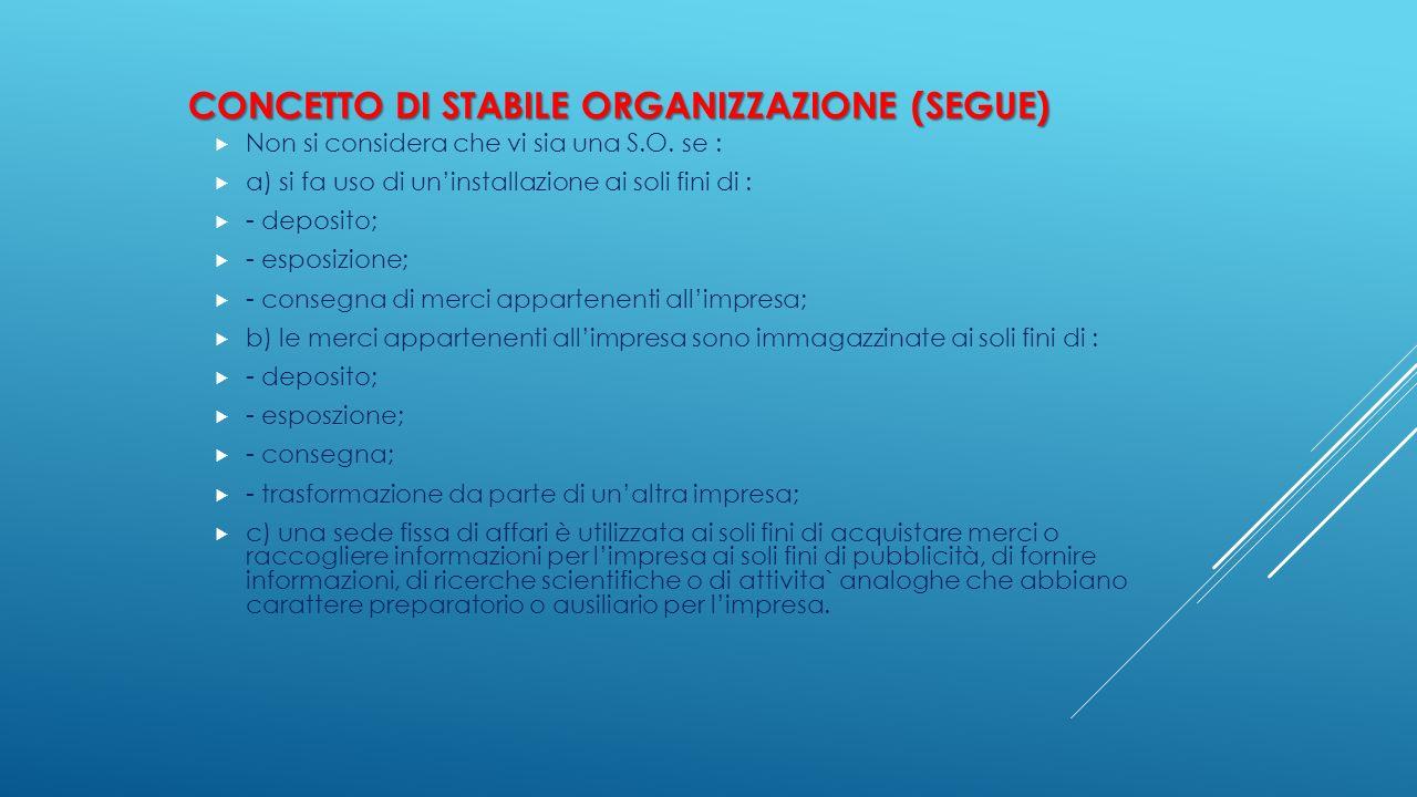 Concetto di Stabile organizzazione (segue)