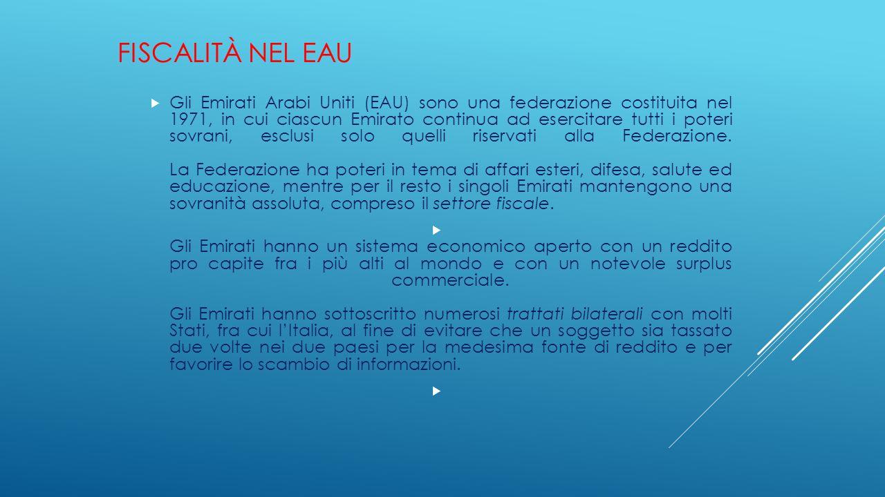 Fiscalità nel EAU
