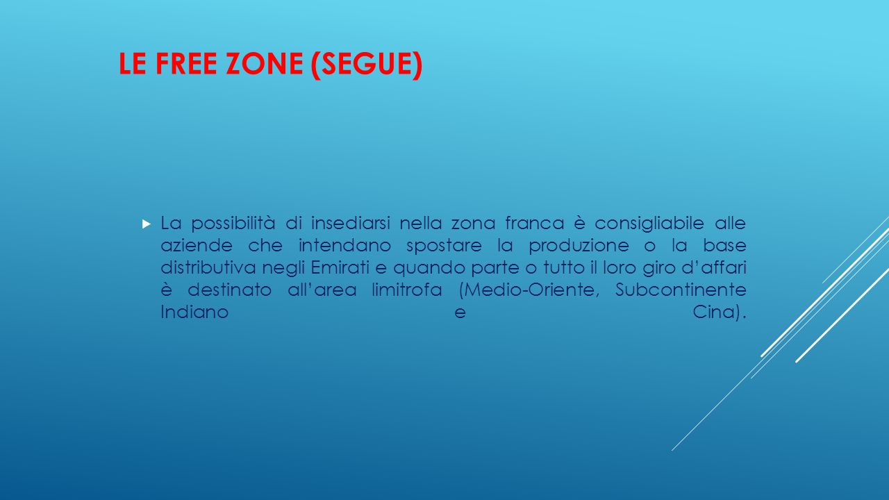 LE FREE ZONE (SEGUE)