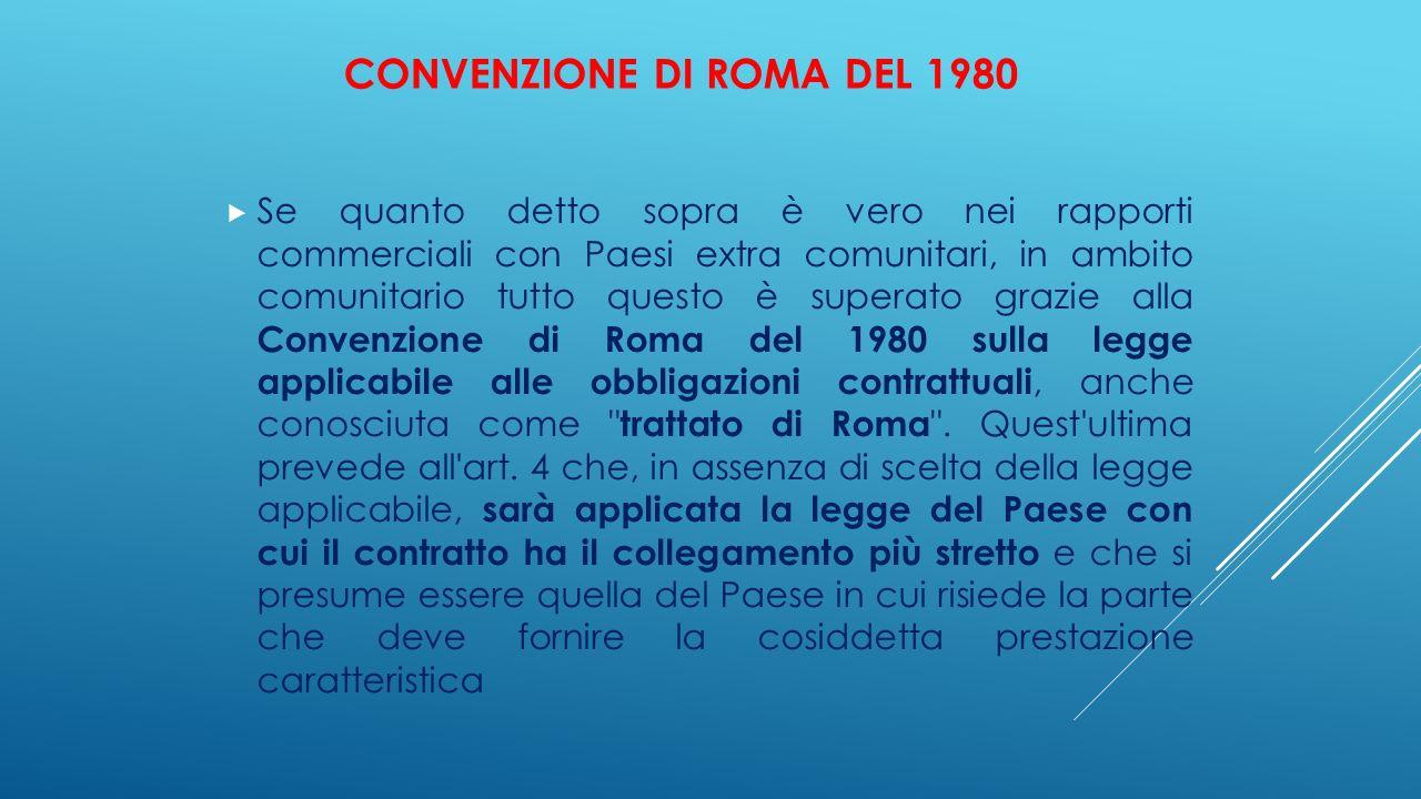 Convenzione di Roma del 1980