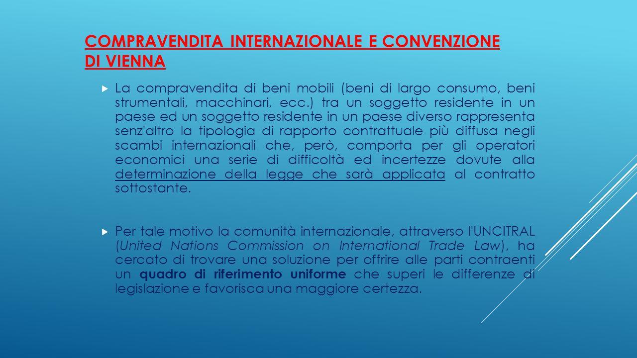 Compravendita internazionale e Convenzione di Vienna