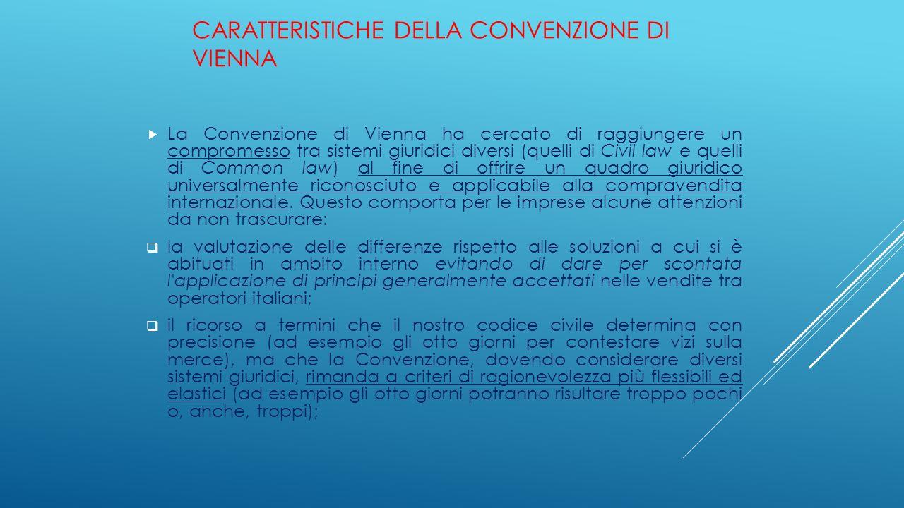 Caratteristiche della Convenzione di Vienna
