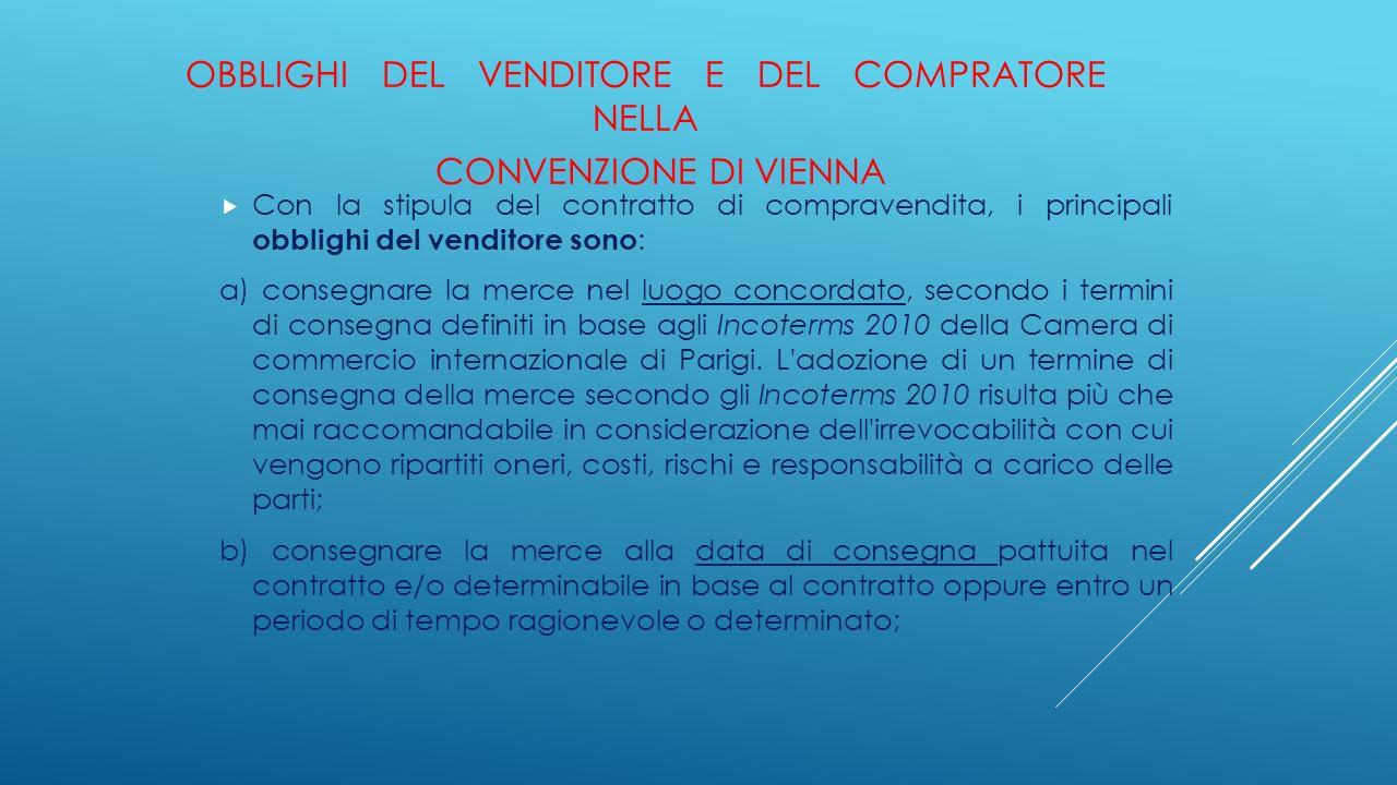 Obblighi del venditore e del compratore nella Convenzione di Vienna