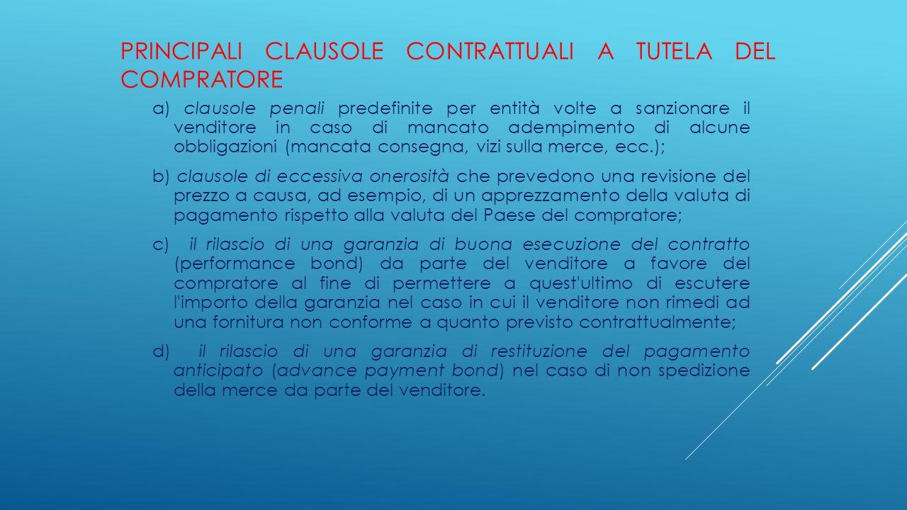 Principali clausole contrattuali a tutela del compratore