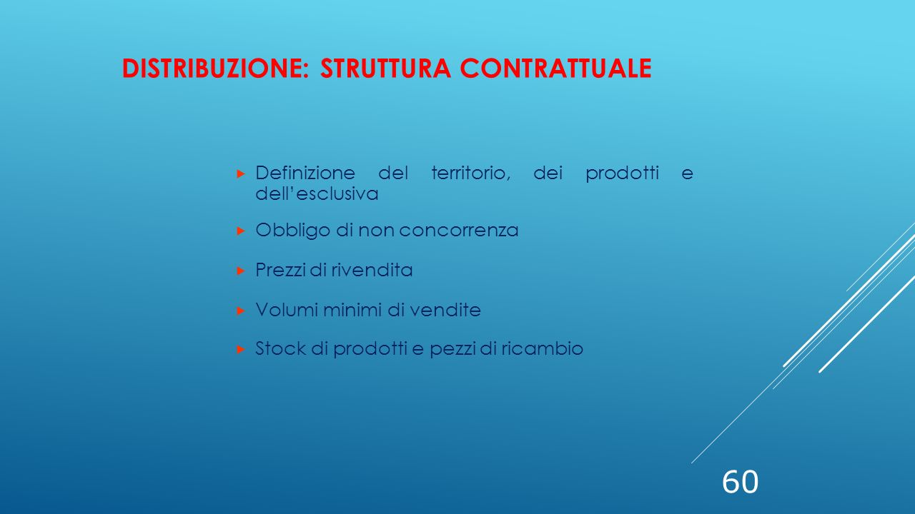 Distribuzione: struttura contrattuale
