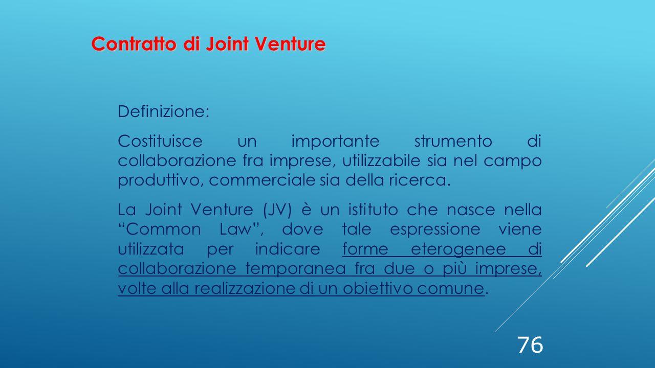 Contratto di Joint Venture