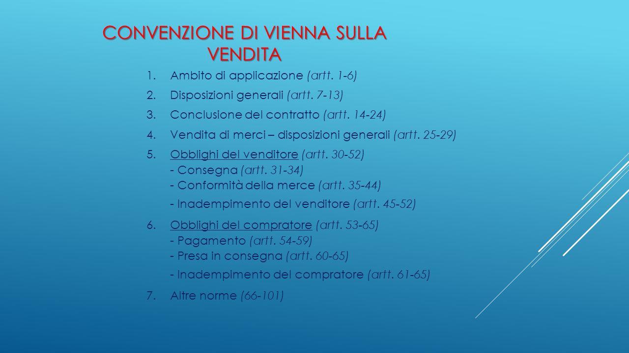 CONVENZIONE DI VIENNA SULLA VENDITA