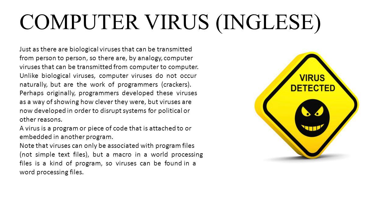COMPUTER VIRUS (INGLESE)