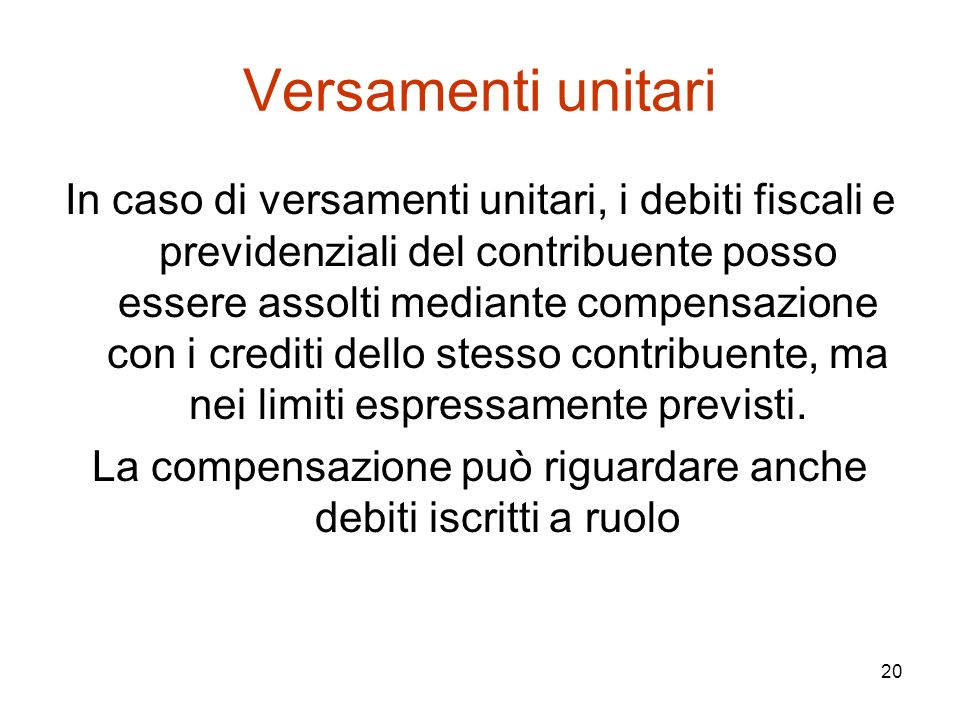 La compensazione può riguardare anche debiti iscritti a ruolo