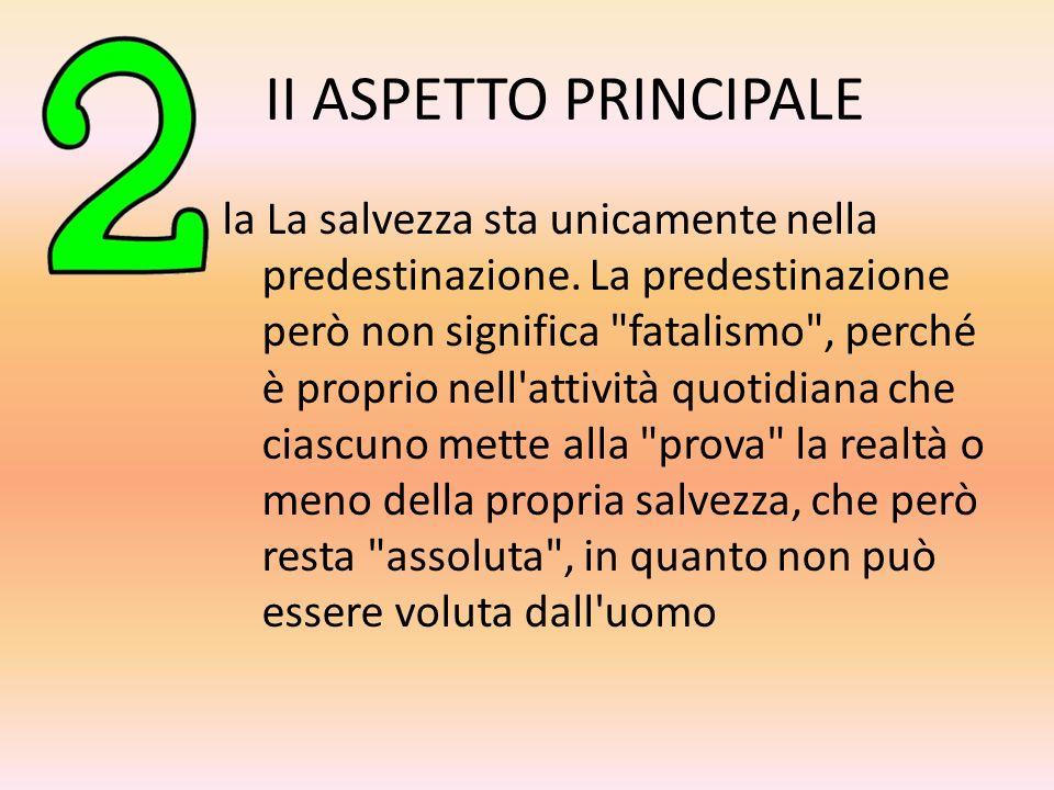 II ASPETTO PRINCIPALE