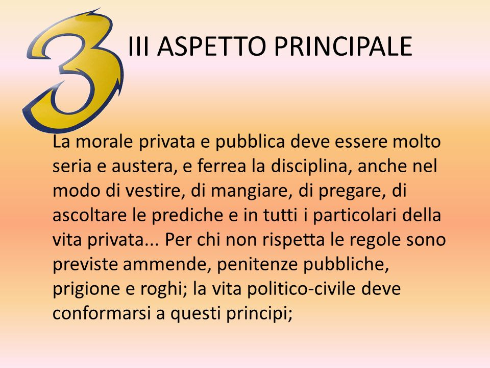 III ASPETTO PRINCIPALE