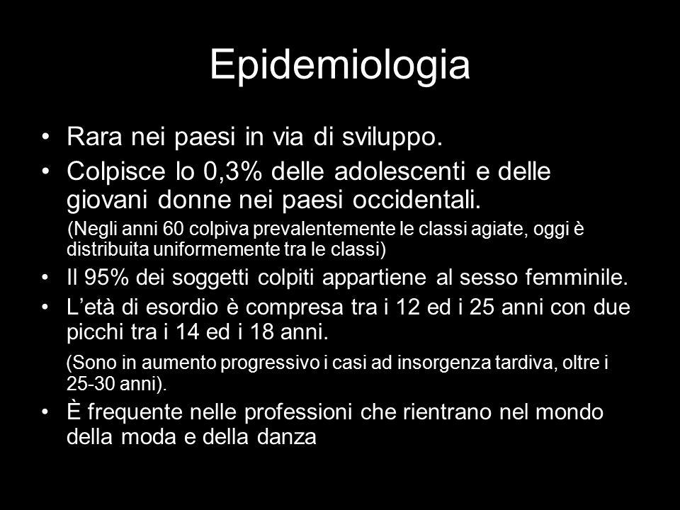 Epidemiologia Rara nei paesi in via di sviluppo.
