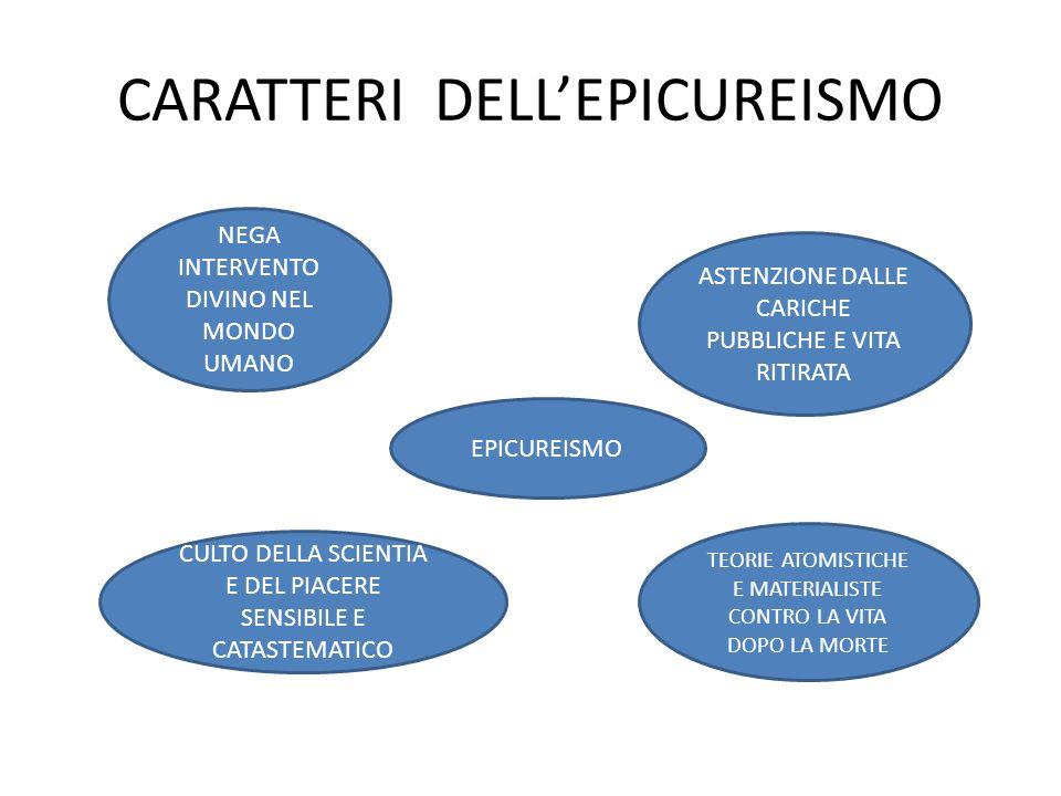 CARATTERI DELL'EPICUREISMO
