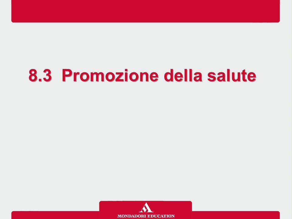 8.3 Promozione della salute